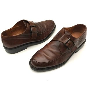 Johnston Murphy Passport Monk Strap Leather Shoes